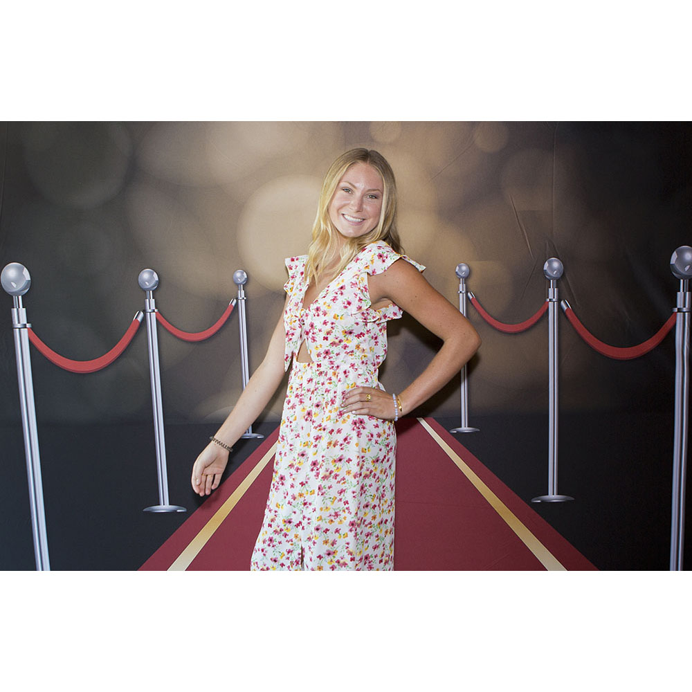 Walk the red carpet in Bakersfield when you select Abbys Photography and the appropriate photo booth custom backdrop.