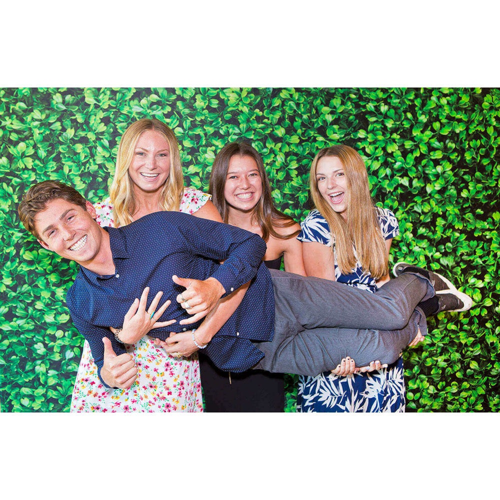 It's easy being green with the right photo booth custom backdrop from Abbys Photography.