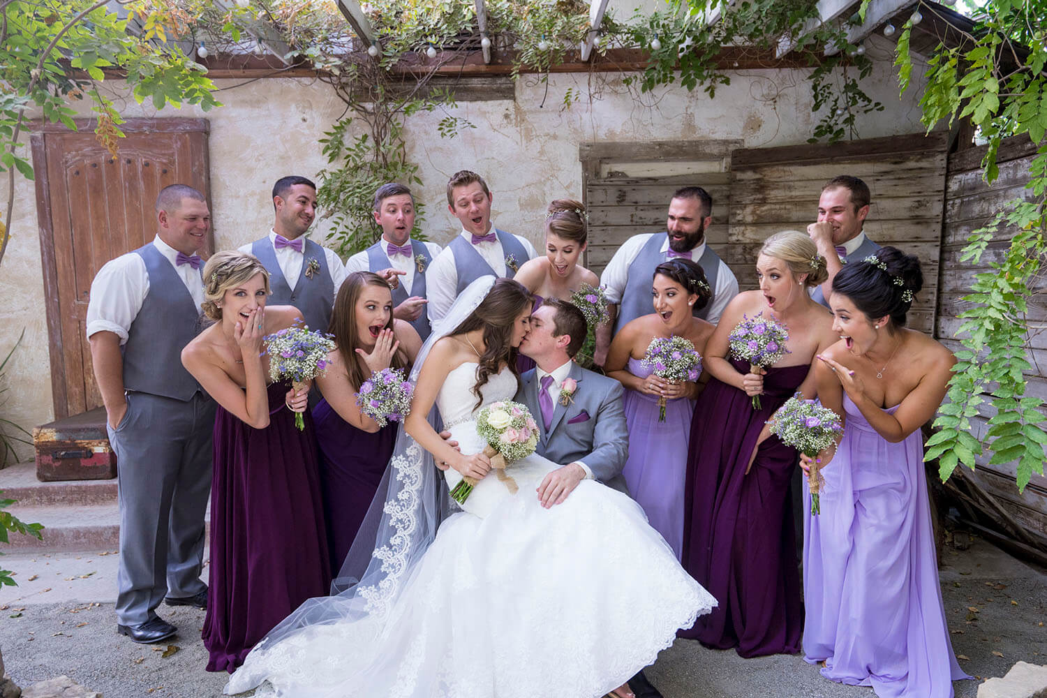 The best wedding photography captures that first wedding kiss.
